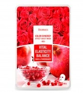 Deoproce Маска тканевая  с экстрактом граната и лепестков роз Color Synergy Effect Sheet Mask Red